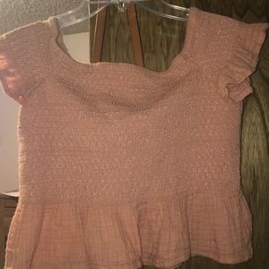 American Eagle off the shoulder crop